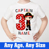 Sprinklecart Pirate Birthday Wear | Personalized 3rd Birthday T Shirt for Boys