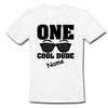 Sprinklecart One Cool Dude Birthday T Shirt | Custom Name Printed Birthday Wear