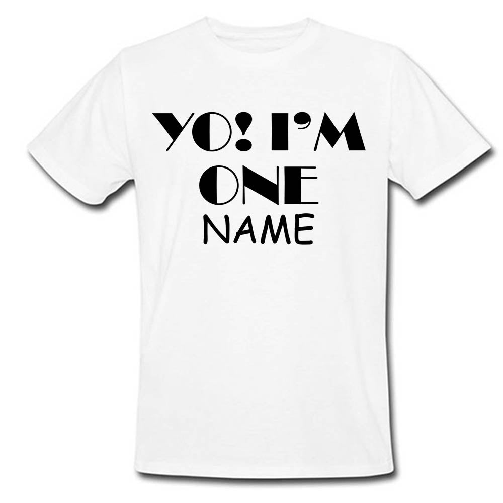 Sprinklecart Yo! I'm One Printed Birthday T Shirt | Custom Name Printed Birthday Wear