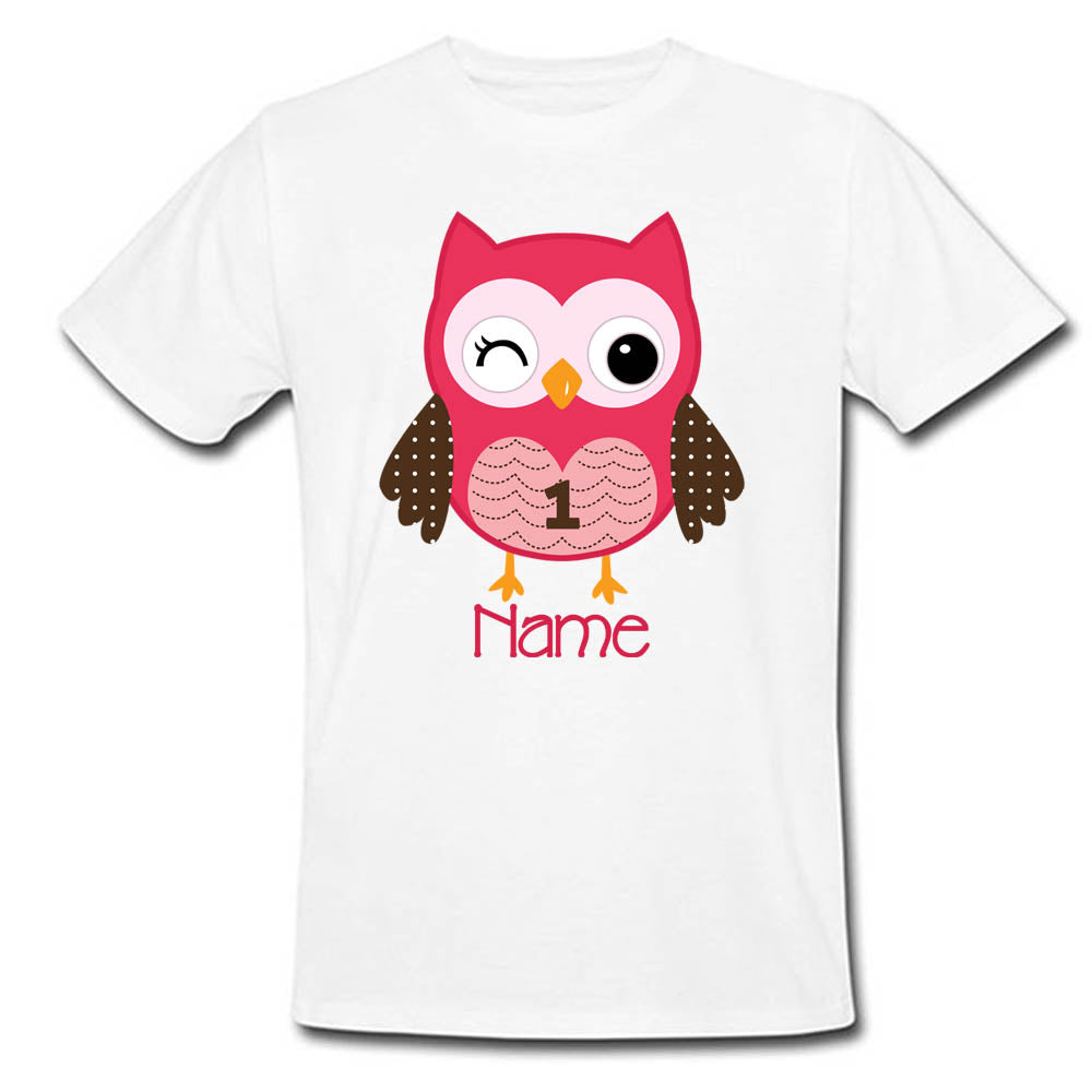 Sprinklecart Lovely Owl Birthday Wear | Special Personalized T Shirt Gift