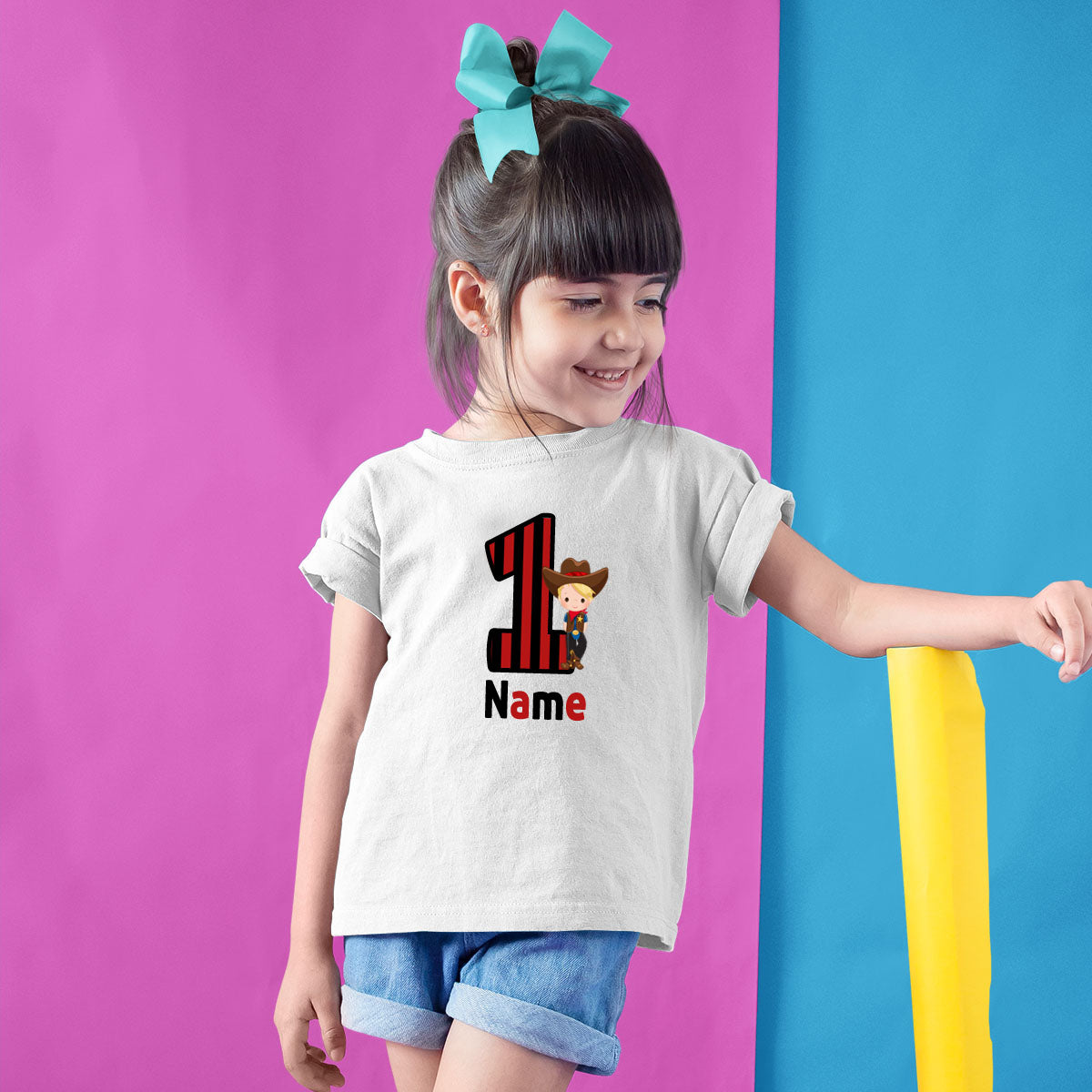 Sprinklecart First Birthday T Shirt with Pirate Theme | Customized Name and Age Printed Tee Wear