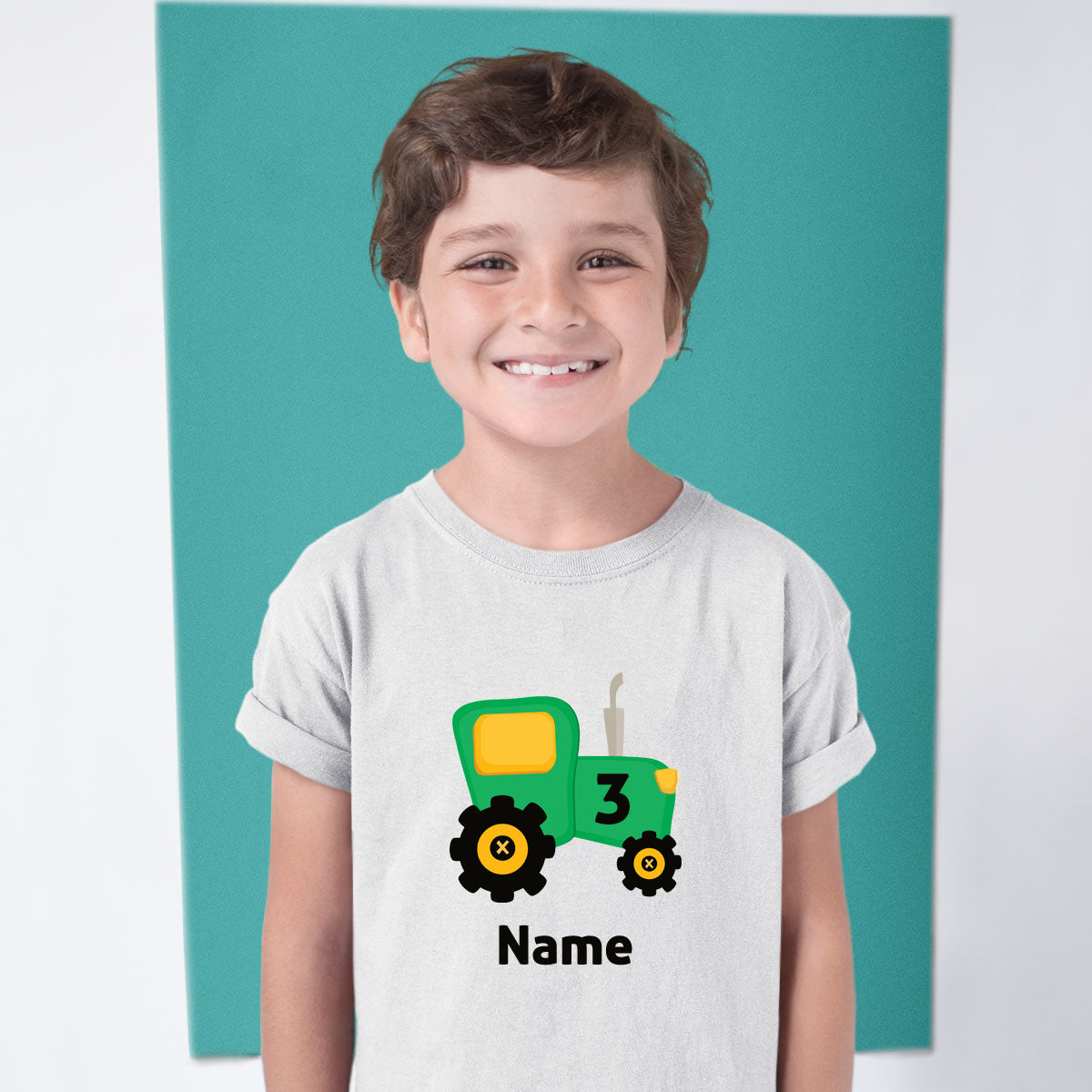 Sprinklecart Farm Tractor 3rd Birthday T Shirt | Perfect Personalized Birthday Gift