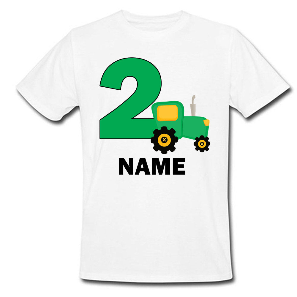 Sprinklecart | Farm Tractor Personalized Birthday T Shirt