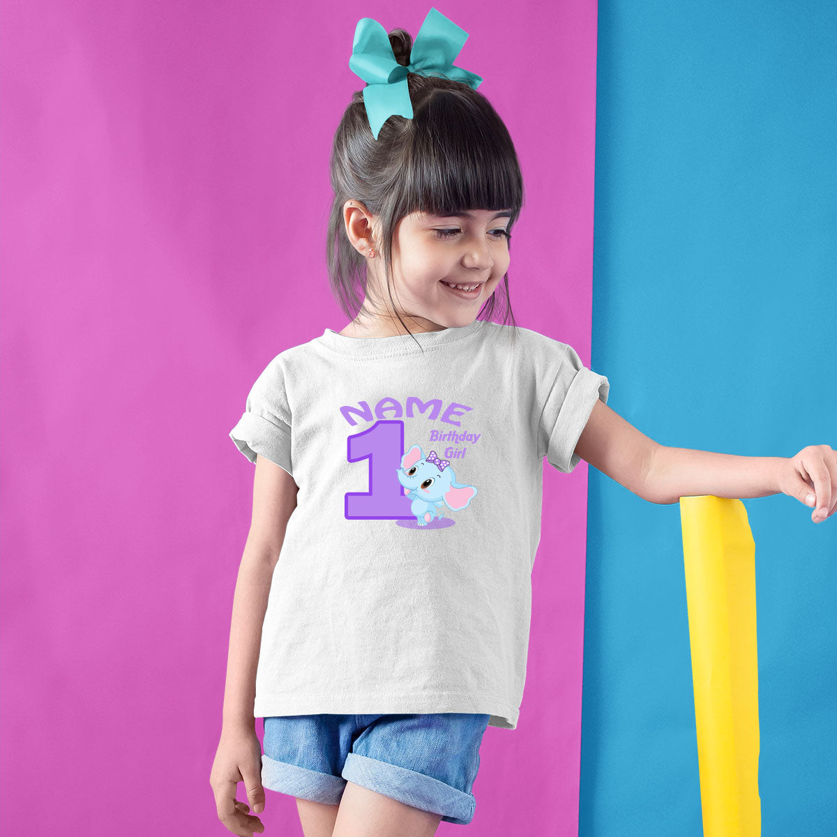 Sprinklecart Ideal 1st Birthday Wear for Your Little Princess | Customized Little Elephant T Shirt