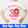 Sprinklecart Cute Little Princess Personalized 3rd Birthday Tee | Make Your Kid's Birthday Unique