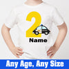 Sprinklecart Police Car Themed Birthday T Shirt | Customized 1st Birthday Wear for Your Little Hero