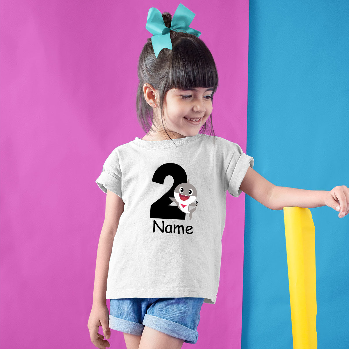 Sprinklecart Awesome 2nd Birthday Tee Gift | Personalized Little Shark Birthday Dress