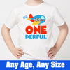 Sprinklecart Mr. One Derful Airplane Birthday Dress | Personalized 1st Birthday T Shirt