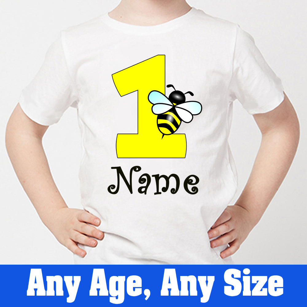 Sprinklecart Ideal Personalized Honey Bee 1st Birthday T Shirt for Little One
