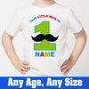 Sprinklecart This Little Man is 1 Printed Birthday Tee | Custom Name and Age Printed Birthday Wear