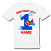Sprinklecart Personalized 1st Birthday Dress | Unique Airplane Birthday T Shirt for Boys
