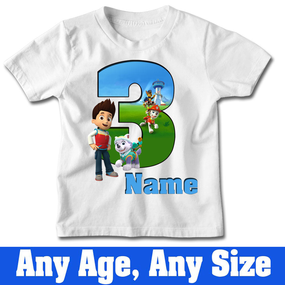 Sprinklecart Gift for 3rd Birthday Star | Personalized Name Printed Kids Birthday Tee Gift