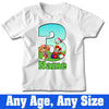 Sprinklecart Kids Evertime Favourite Paw Patrol 3rd Birthday T Shirt Gift | Customized Name Printed for Your Little Hero
