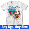 Sprinklecart Kids Birthday Tee Wear | Personalized Name Printed Paw Patrol Kids 8th Birthday T Shirt