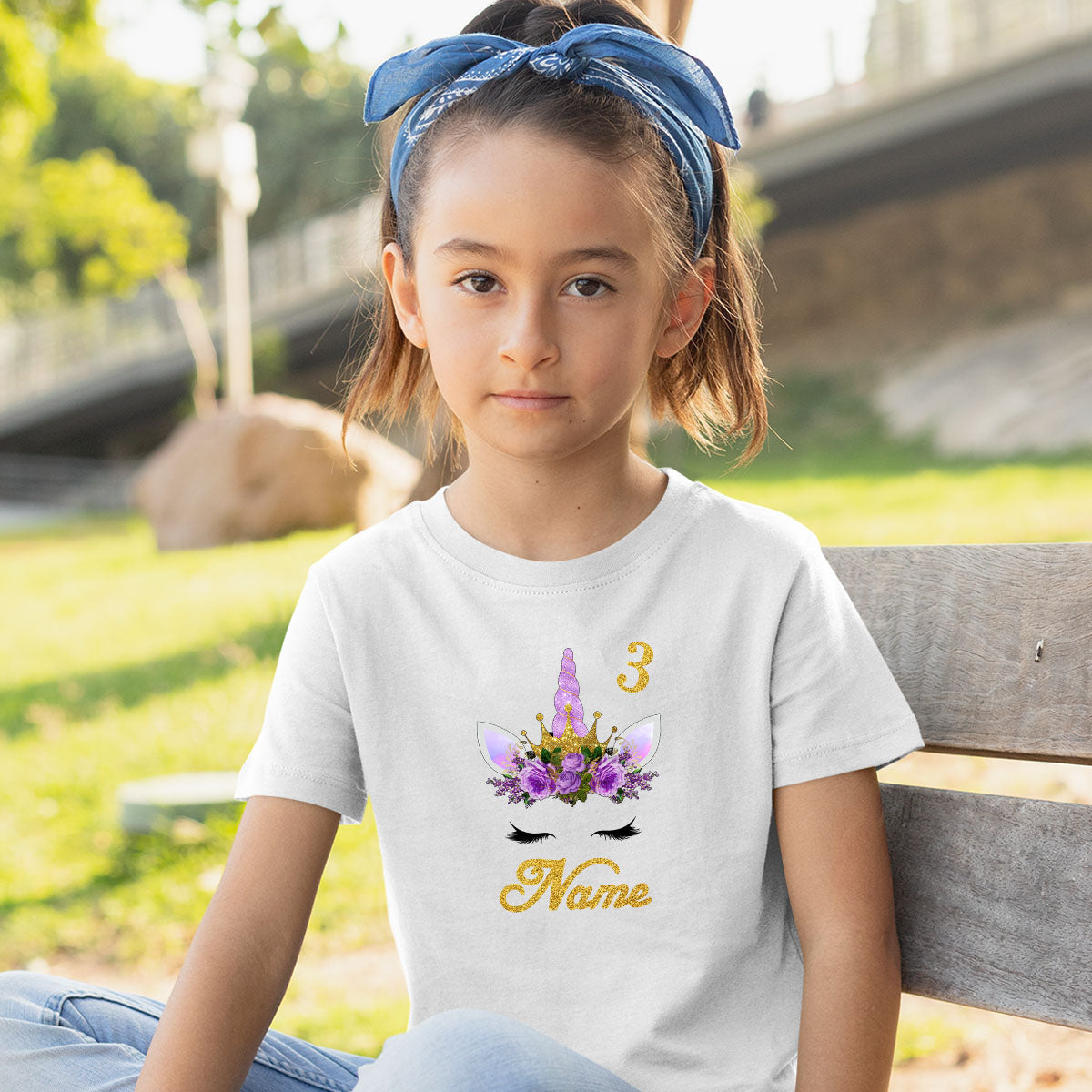 Sprinklecart Lovely Unicorn Birthday T Shirt | Personalized 3rd Birthday Dress for Your Little Unicorn