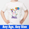 Sprinklecart Dabbing Unicorn Printed Birthday Tee | Customized Birthday Dress for Your Kid