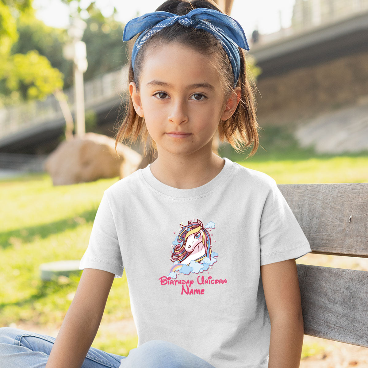 Sprinklecart Unicorn Name Printed Special Design Birthday Tee | Personalized Birthday Dress for Your Star