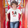 Sprinklecart Personalized Special & Lovely Dinosaur Image Printed Birthday Tee | 5th Birthday Wear