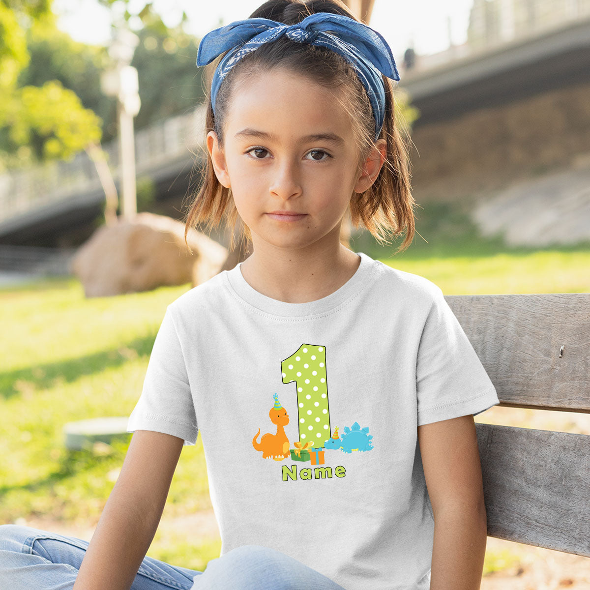 Sprinklecart Cute Personalized Age and Name Printed Birthday Wear | Beautiful First Birthday T Shirt