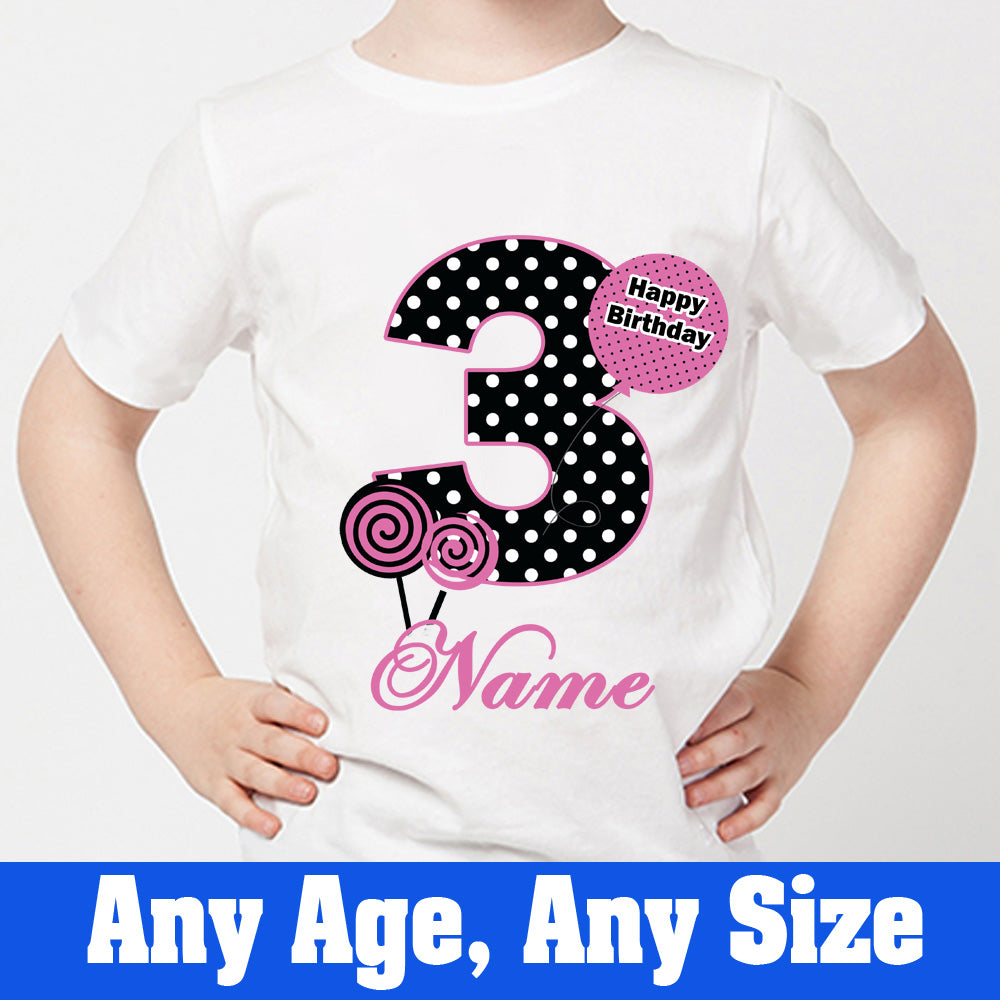 Sprinklecart Personalized Name Printed Birthday Dress for Your Kid | 3rd Birthday Tee