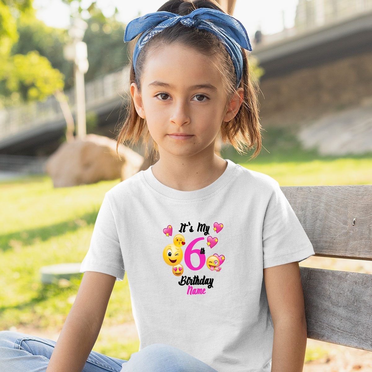Sprinklecart Kids Special Personalized Name Printed Birthday T Shirt for Your 6th Birthday Super Star