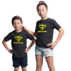 Sprinklecart Super Brother Super Sister Matching Cotton T Shirts Black T Shirt for Siblings