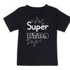 Sprinklecart Super Hero Side Kick Printed T Shirts Cute Black Cotton T Shirts for Siblings