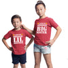 Sprinklecart I Love My Awesome Big Sister I Love My Awesome Lil Brother Printed Cotton Red Matching T Shirts
