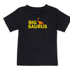 Sprinklecart Big Saurus Lil Saurus Printed Kids Cotton T Shirt Combo (Black)