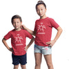 Sprinklecart Kids Matching Fire Crackers Cotton T Shirt Set for Sibling (Red)
