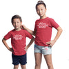 Sprinklecart Matching Sibling Squad Cotton Kids T Shirt Combo (Red)