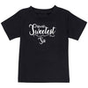 Sprinklecart World's Sweetest Sis World's Sweetest Bro Cotton T Shirt Combo for Kids (Black)