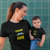 Sprinklecart Coolest Son Ever Coolest Mom Ever Printed T Shirt for Mom and Son (Black)