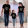 Sprinklecart World's Greatest Dad Worl'd Greatest Mom World's Greatest Kid Printed Family T Shirt