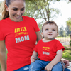Sprinklecart Mom's Little Dude Little Dude's Mom Printed Red Cotton T Shirt