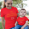 Sprinklecart I've Created a Monster, Monster Matching T Shirts for Mom and Son (Red