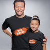 Sprinklecart Rule Maker & Rule Breaker Unique T Shirt | Matching Dad and Daughter T Shirt Set (Black)