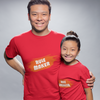 Sprinklecart Rule Maker & Rule Breaker Lovely T Shirt | Matching Dad and Daughter T Shirt Set (Red)