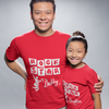 Sprinklecart Rock Star Daddy & Daughter Lovely Printed T Shirt for Dad and Daughter (Red)