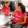 Sprinklecart Cotton T-Shirt Set for Mom and Daughter | Blessed Mama, Little Blessing Matching T Shirt Combo (Red)