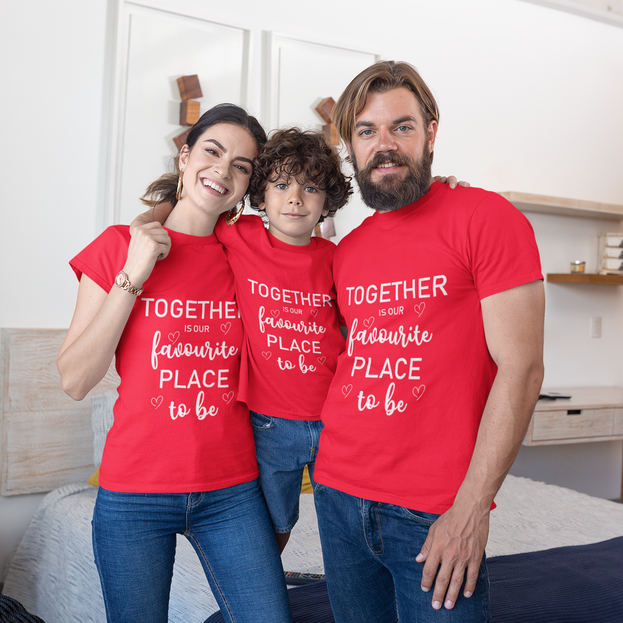Sprinklecart Together is Our Favourite Place to Be | 100% Cotton Family T Shirt
