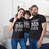 Sprinklecart Personalized Printed Family Birthday Gift | Coolest Dad, Mom & Son Ever Design Printed Family Tee