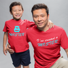 Sprinklecart Matching I've Created A Monster and Monster Printed T Shirts for Father and Son (Red)