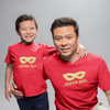 Sprinklecart Matching Super Dad Super Son Printed T Shirt Red Cotton T Shirt Combo