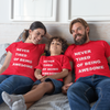 Sprinklecart Never Tired Being Awesome Printed Family T Shirt | Perfect | Set of 3 for Father Mother and Kid