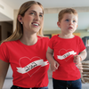 Sprinklecart Cool T Shirts for Mom and Son | Red 100% Cotton T Shirt Combo