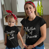 Sprinklecart Combo of Cotton T Shirts | Mother of Princess & Daughter of Queen Tee (Black)