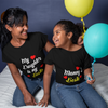 Sprinklecart My Daughter is My Bestie, Mommy's Bestie Printed T Shirt Combo for Kid and Mom (Black)