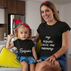 Sprinklecart Squad, My Squad Calls Me Mommy Printed T Shirt Combo for Mom and Kid (Black)