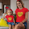 Sprinklecart Cutie Printed Matching Red Cotton T Shirt | Pack of 2 T Shirt for Mother and Kid